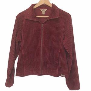Woolrich black cherry corduroy cropped jacket M